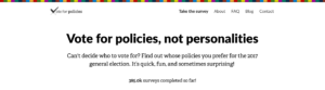 Vote for Policies: Homepage