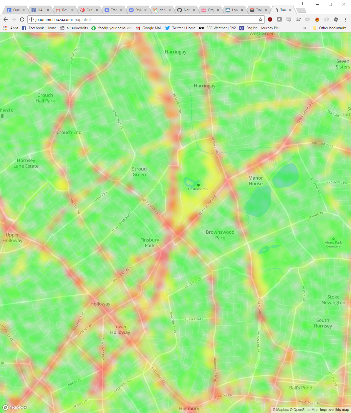 Mapping Big Data: How we built Tranquil Pavement London :: Outlandish